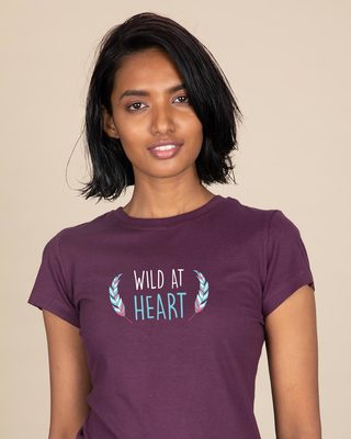Shop Wild At Heart Boho Half Sleeve T-shirt-Front