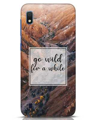 Shop Wild For Awhile Samsung Galaxy A10 Mobile Cover-Front