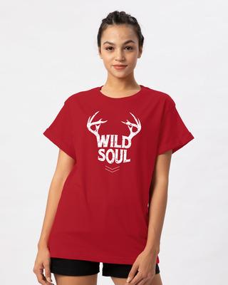 Shop Wild Soul Boyfriend T-Shirt-Front