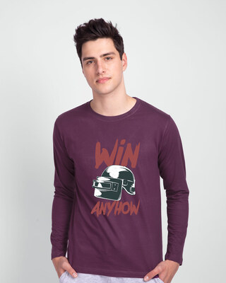 Shop Win Anyhow Full Sleeve T-Shirt-Front