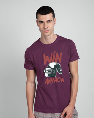 Shop Win Anyhow Half Sleeve T-Shirt-Front