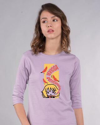 Shop Wingardium Leviosa Round Neck 3/4th Sleeve T-Shirt (HPL)-Front