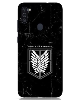 Shop Wings Of Freedom Samsung Galaxy M11 Mobile Cover-Front