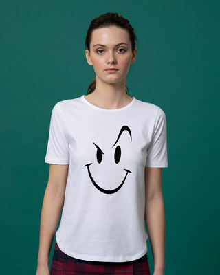 Shop Wink New Basic Round Hem T-Shirt-Front