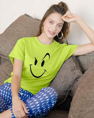 Shop Wink New Boyfriend T-Shirt Neon Green-Front