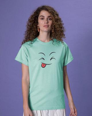 Shop Winky Smiley Boyfriend T-Shirt-Front