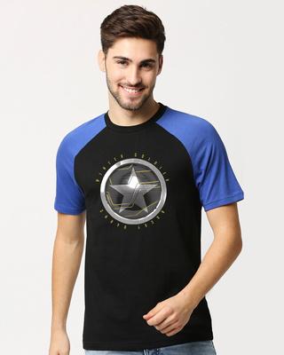 Shop Winter Soldier Sigil (FWL) Raglan Half Sleeve T-Shirt-Front