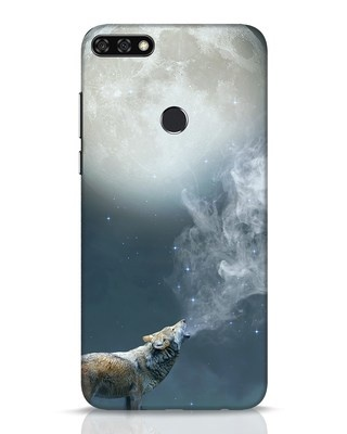 Shop Wolf Moon Huawei Honor 7C Mobile Cover-Front