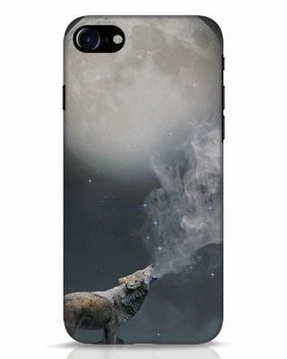 Shop Wolf Moon iPhone 7 Mobile Cover-Front