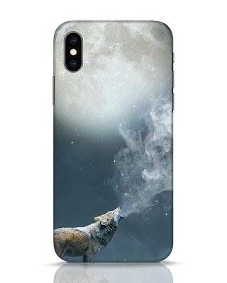 Shop Wolf Moon iPhone XS Mobile Cover-Front