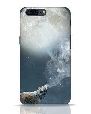 Shop Wolf Moon OnePlus 5 Mobile Cover-Front