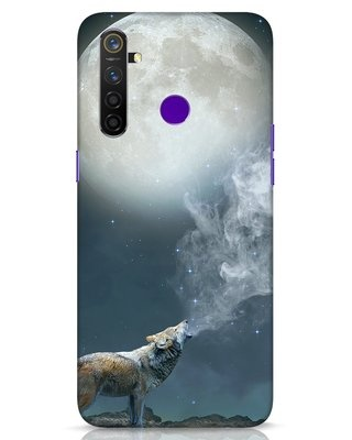 Shop Wolf Moon Realme 5 Pro Mobile Cover-Front