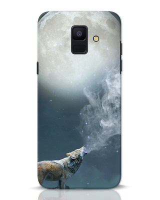 Shop Wolf Moon Samsung Galaxy A6 2018 Mobile Cover-Front