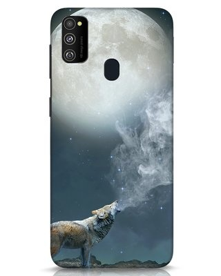 Shop Wolf Moon Samsung Galaxy M30s Mobile Cover-Front
