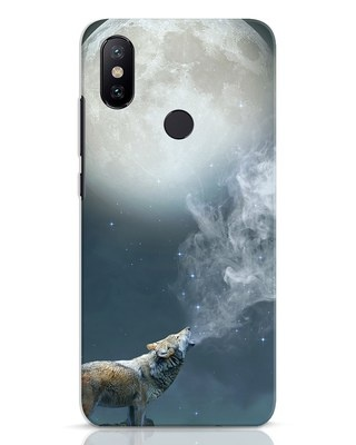 Shop Wolf Moon Xiaomi Mi A2 Mobile Cover-Front