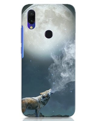 Shop Wolf Moon Xiaomi Redmi 7 Mobile Cover-Front