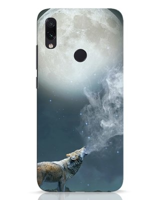 Shop Wolf Moon Xiaomi Redmi Note 7 Pro Mobile Cover-Front