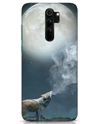 Shop Wolf Moon Xiaomi Redmi Note 8 Pro Mobile Cover-Front