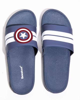 Shop Women Captain America Stripes Sliders (AVL)-Front