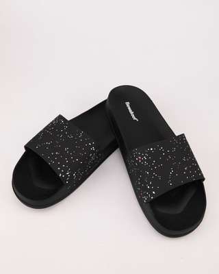 Shop Women Minimal Splatter Sliders-Front