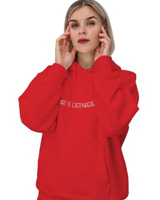 Shop Women's Art Is Everywhere Hoodie-Front