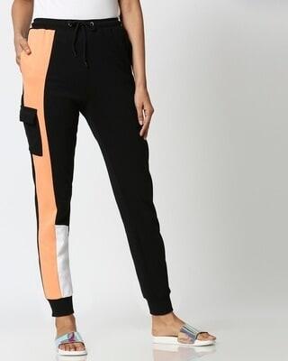 Shop Orange Rush Side Panel Pocket Joggers-Front