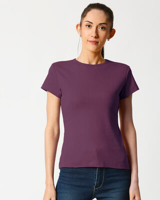 Shop Women's Half Sleeve Rib T-shirt-Front