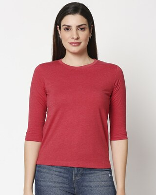 Shop Women's Melange T-shirt-Front