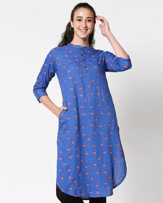 Shop Women's Printed Long Kurta-Front