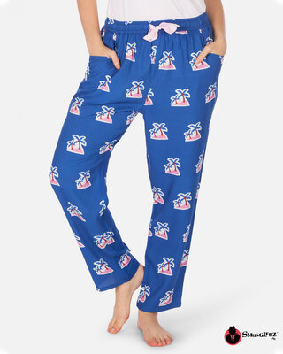 Shop Smugglerz Women's Pyjamas Palm Tree Navy-Front