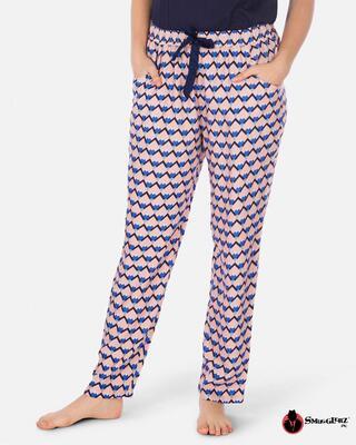 Shop Smugglerz Women's Pyjamas Sicilian Tile Pink-Front