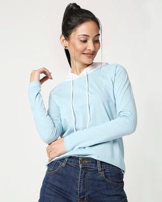 Shop Women's Raglan Melange Hoodie-Front