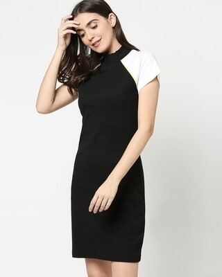 Shop Women's Rib Raglan Dress-Front