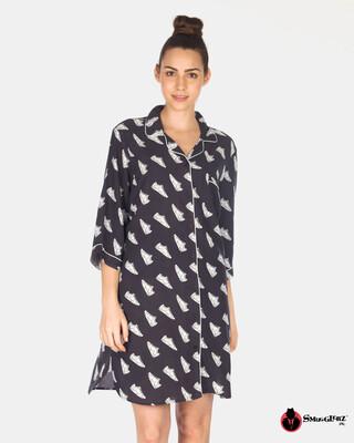 Shop Smugglerz Women's Sneakers Nightdress Black L-Front