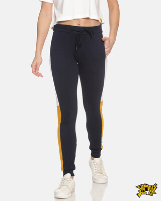 Shop Campus Sutra women's Stylish Joggers-Front