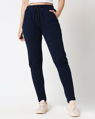 Shop Women True Indigo Joggers-Front