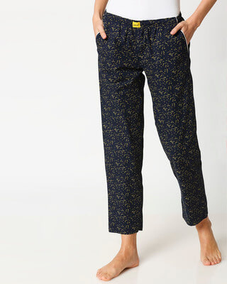 Shop Gold Leaves Women's Pyjama-Front