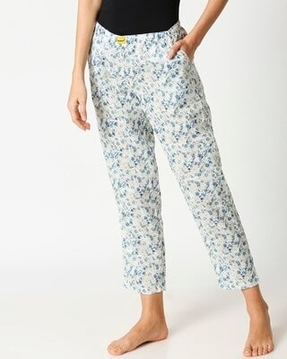 Shop Blue Floral Women's Pyjama-Front