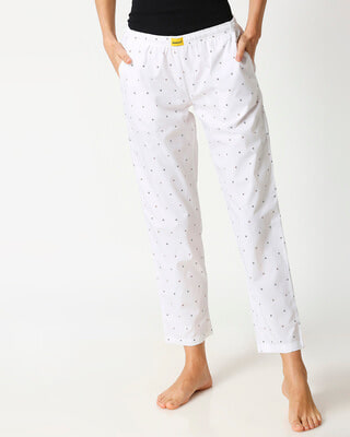 Shop White AOP Women's Pyjama-Front