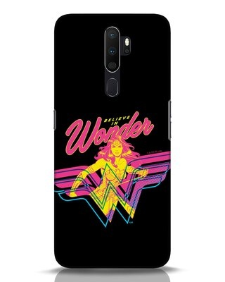 Shop Wonder Woman Retro Oppo A5 2020 Mobile Cover (DCL)-Front