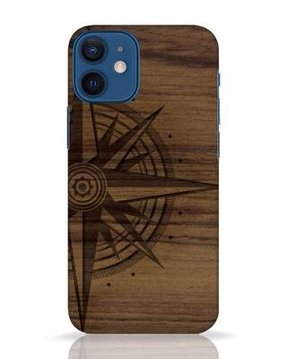 Shop Wood Compass iPhone 12 Mini Mobile Cover-Front