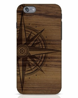 Shop Wood Compass iPhone 6s Mobile Cover-Front