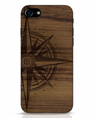 Shop Wood Compass iPhone 7 Mobile Cover-Front