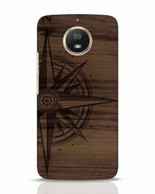 Shop Wood Compass Moto G5s Mobile Cover-Front