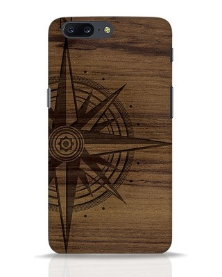 Shop Wood Compass OnePlus 5 Mobile Cover-Front
