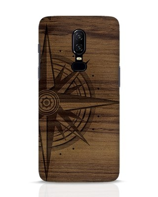 Shop Wood Compass OnePlus 6 Mobile Cover-Front
