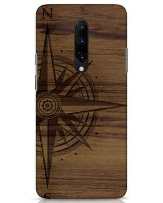 Shop Wood Compass OnePlus 7 Pro Mobile Cover-Front