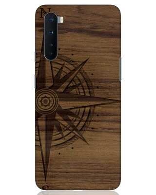 Shop Wood Compass OnePlus Nord Mobile Cover-Front