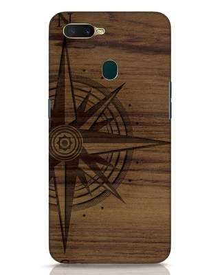 Shop Wood Compass Oppo A7 Mobile Cover-Front