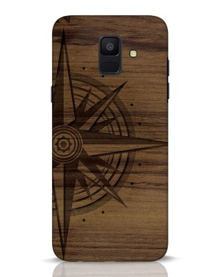 Shop Wood Compass Samsung Galaxy A6 2018 Mobile Cover-Front